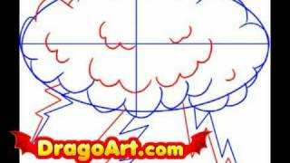 How to draw lightning, step by step