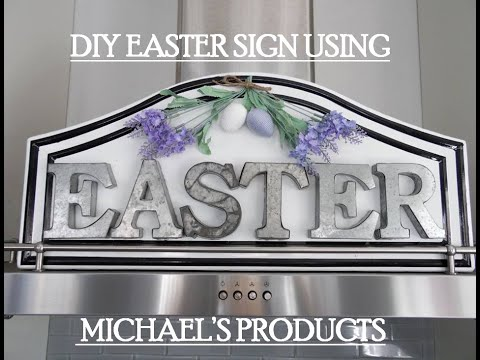Easter Metal Sign Michael's DIY Home Decor Easy Crafts