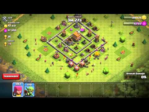 Clash Of Clans: Won An Attack With 105 Archers