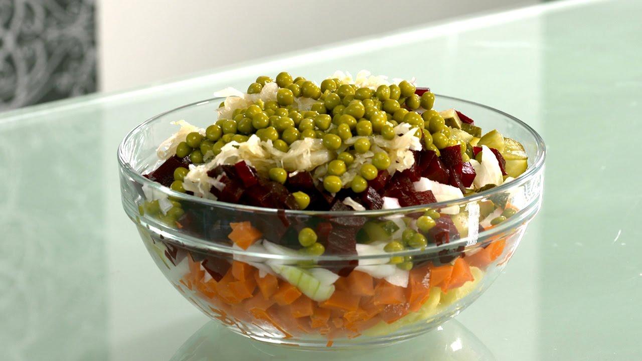 vegetarischer salat veganer salat vinaigrette nach russischer art leckerer gem sesalat. Black Bedroom Furniture Sets. Home Design Ideas