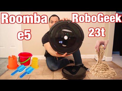 irobot-roomba-e5-vs-dser-robogeek---ultimate-sand-challenge-🥱