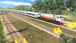 TEST NABRAK SEPUR BADUG   Trainz Simulator Indonesia