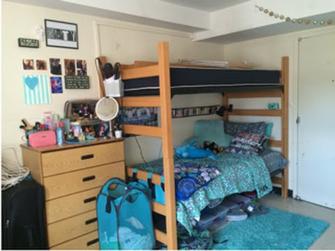 Image of a decorated dorm room