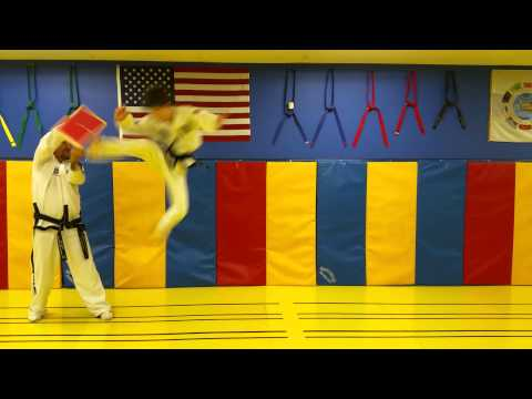 Mountain View Martial Arts & Fitness Taekwon Do Student doing Wall kick