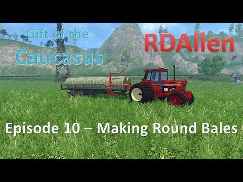 Farming Simulator 15 MP Gift of the Caucasus E10 - Making Round Bales