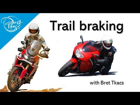 Trail braking on the street (road)