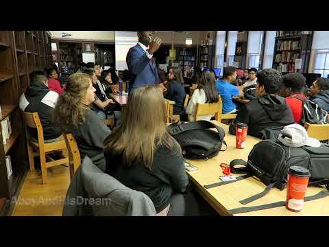 Motivational Speech At Amundsen High School   AboyAndHisDream