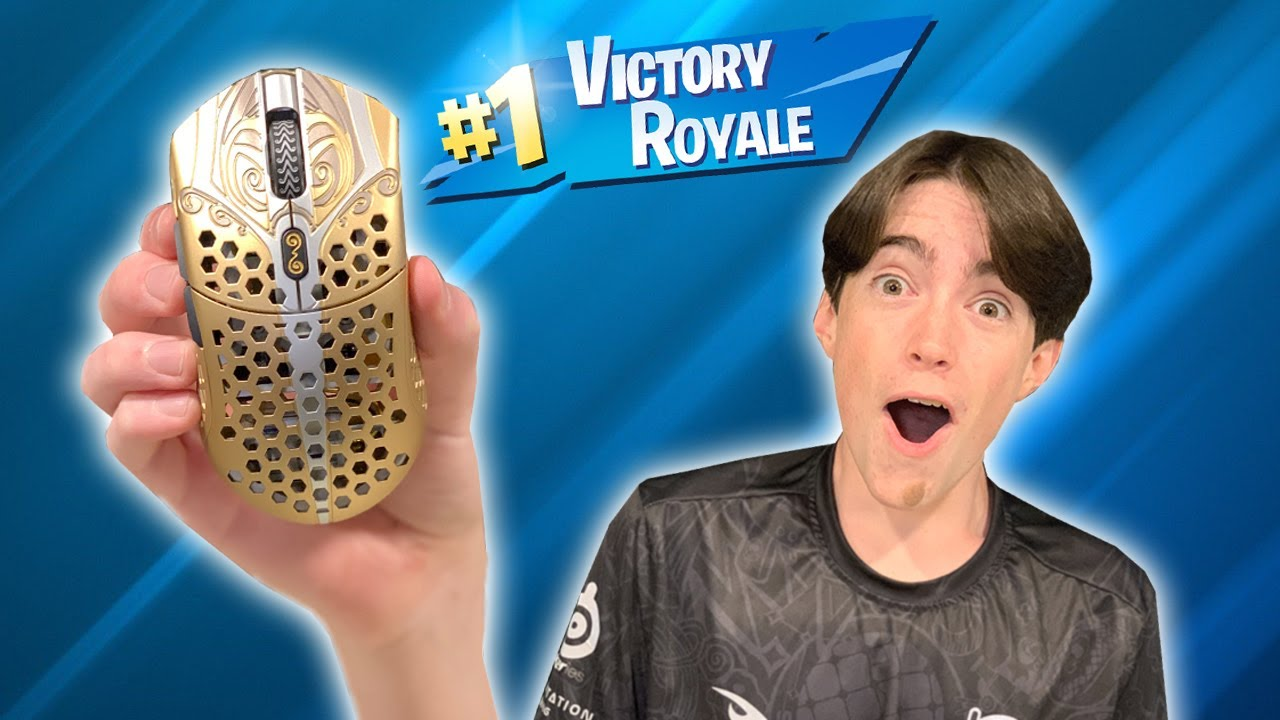 THEY SENT ME THE LEGENDARY GOLD MOUSE! - Fortnite Battle Royale