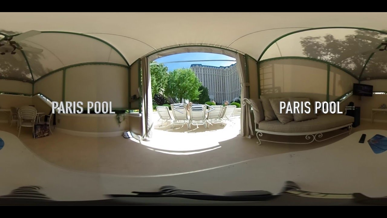 Paris Las Vegas Pool And Cabana 360 Youtube