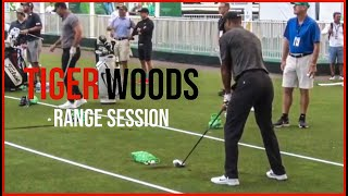 Tiger Woods Rear View Range Session | Pure Swings & Slow Motion