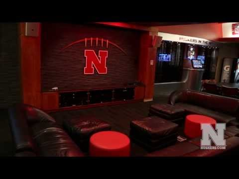 Nebraska Football Locker Room and Player's Lounge