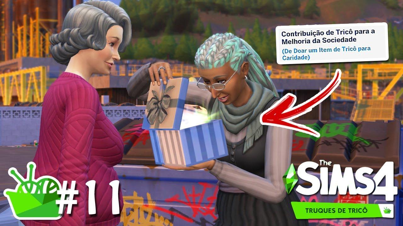 FAZENDO BOAS AÇÕES PARA A CARIDADE #11 - Do Lixo ao Tricô - The Sims 4