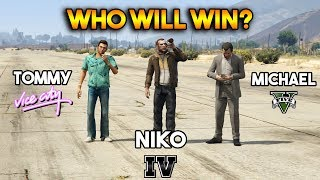 GTA : MICHAEL VS TOMMY VS NIKO (WHO WILL WIN?)