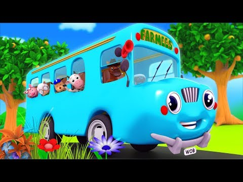 Wheels On The Bus Go Round And Round | Nursery Rhyme | Baby Song | Nursery Rhymes by Farmees S02E250