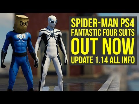 Spider Man PS4 Update 1.14 OUT NOW Adds 2 Fantastic Four Suits & More! (Spiderman PS4 Update 1.14)