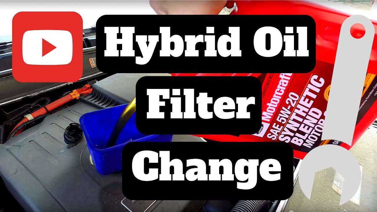 2015 ford fusion energi hybrid oil change