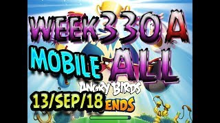 Angry Birds Friends Tournament All Levels Week 330-A MOBILE Highscore POWER-UP walkthrough