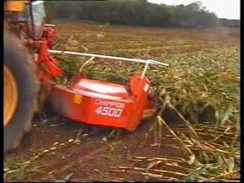 Wspaniały kemper zbiera leżącą kukurydzę - YouTube VR21