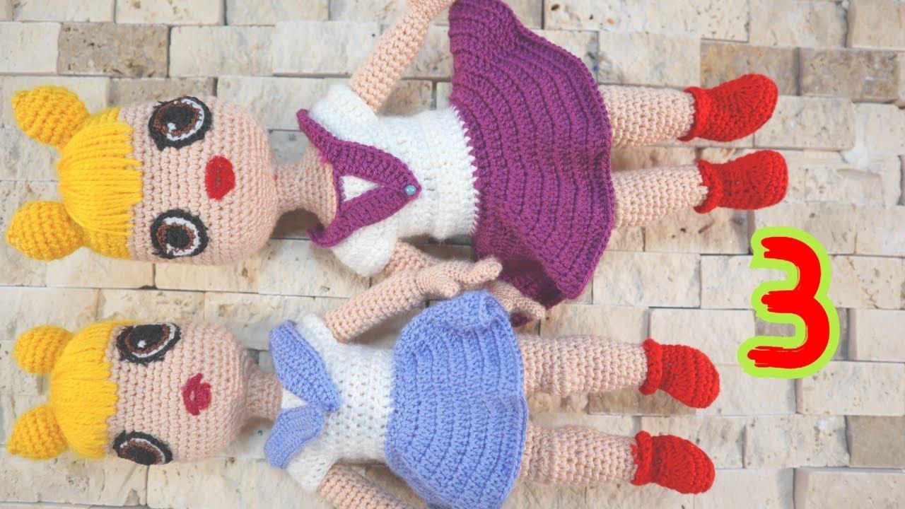 3.Amigurumi Lol Bebek Yapımı Ayak ve Bacak