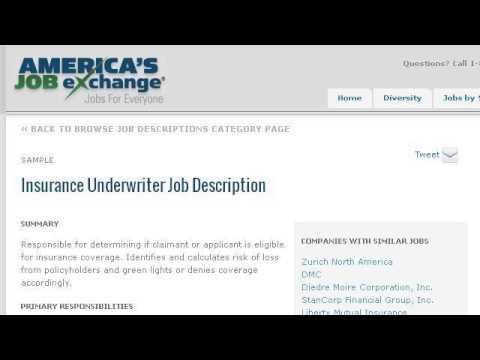 Underwriter Job Description - YouTube
