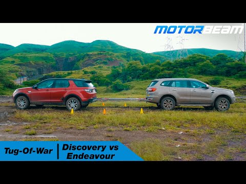 Ford Endeavour Vs Land Rover Discovery Sport - Tug Of War | MotorBeam हिंदी
