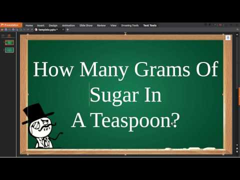 How Many Grams Of Sugar In A Teaspoon Youtube