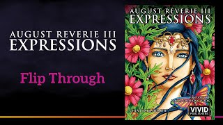Fantasy Art Adult Coloring Book August Reverie 3: Expressions - Flip Through
