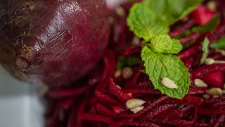 The Best Raw Beet Jicama Salad With Spicy Lime Dressing