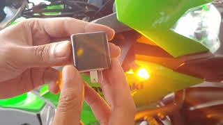Pasang Lampu Sein LED Kawasaki Versys murah dan terang