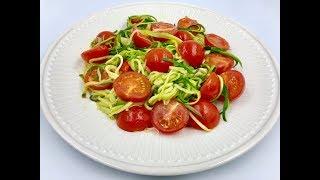 Спагетти из цуккини | Паста из кабачков | Диетическое блюдо из кабачков