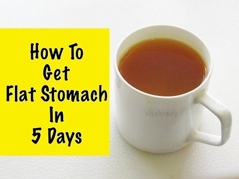 How To Get A Flat Stomach In 5 Days - How To Lose Weight Without Diet Or Exercise - Fat Cutter Tea