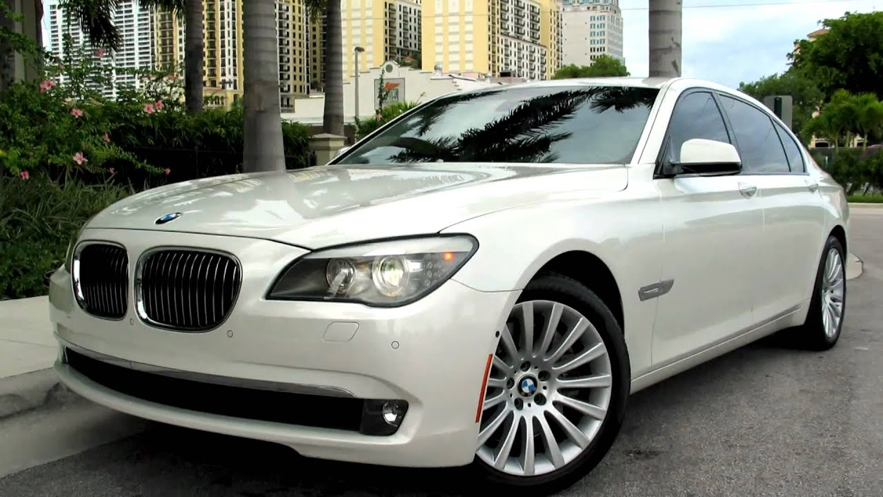 2009 bmw 750li mineral white metallic a2571 youtube. Black Bedroom Furniture Sets. Home Design Ideas