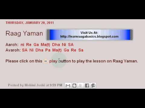 Learn Raaga Basics: Raag Yaman