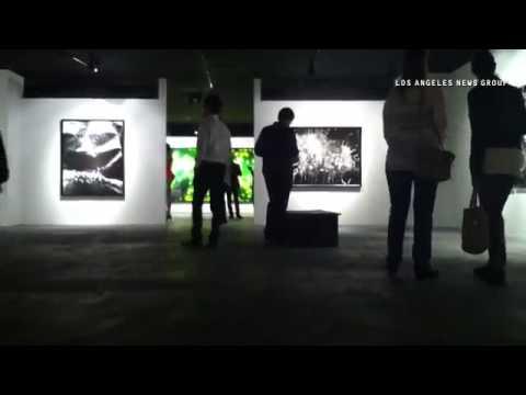 Boite Noire Gallery, Pacific Design Center,  photographer Michael Flomen large scale photograms. #Fl