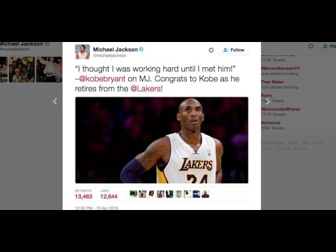 SHOCK! MICHAEL JACKSON STILL ALIVE 2016 interesting Tweet ''KOBE BRYANT''