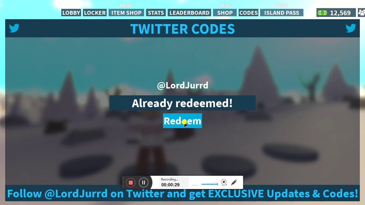 new codes for roblox island royale 2019