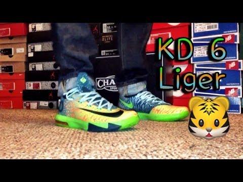 b4b34cbbeac Nike KD 6 Liger Review   On Feet - YouTube