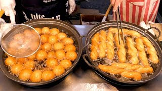 Korean Donuts and Twisted bread stick - Korean street food
