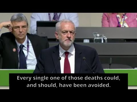 Jeremy Corbyn   Unison Conference   Grenfell Tower