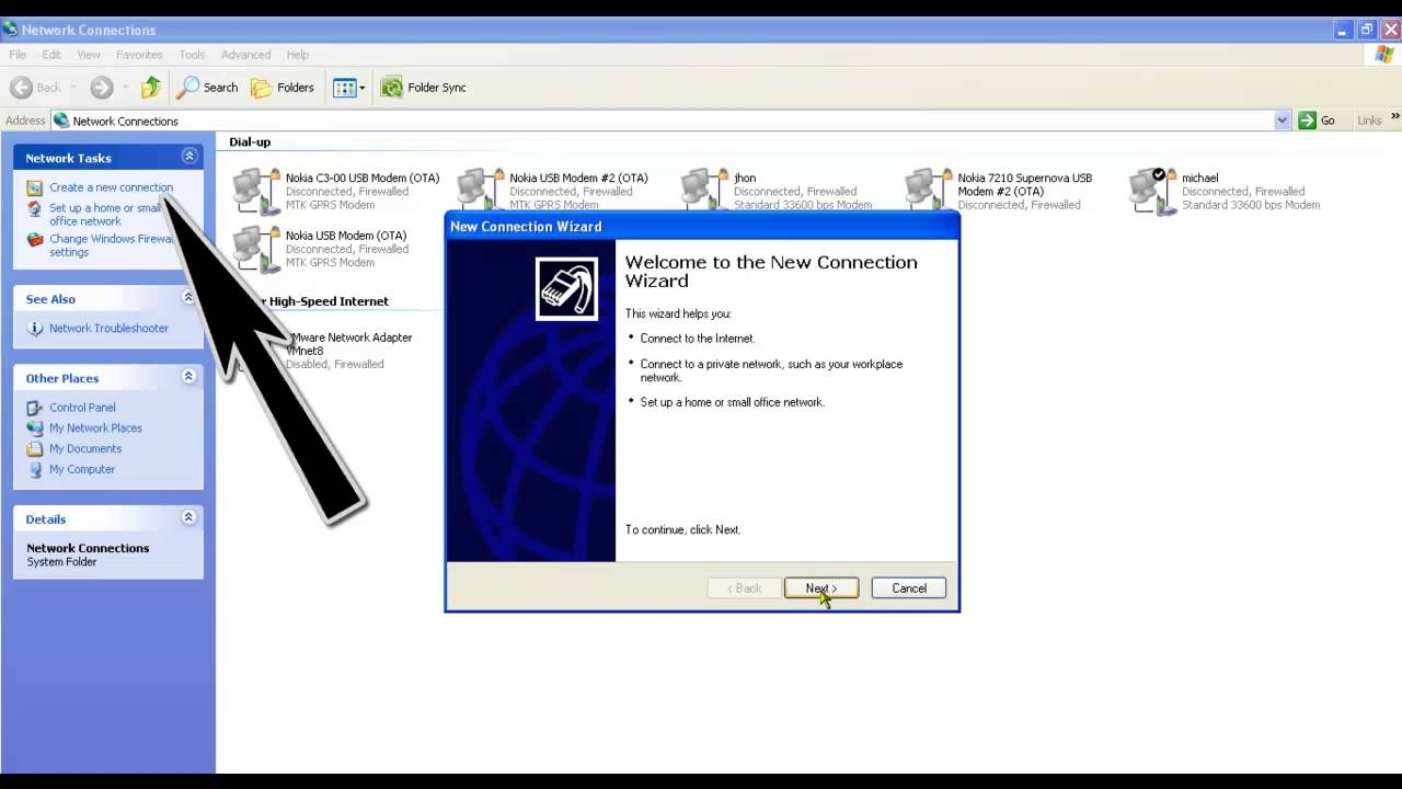 How To Connect Mobile Hotspot To Pc Without Usb Cable: Connect to Internet without PC Suite Using Windows Xp Phone and rh:youtube.com,Design