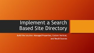 Search Based Site Directory: Part 3