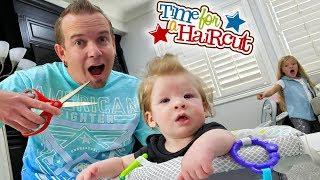 Babys First Haircut Prestons Hair Gets Chopped