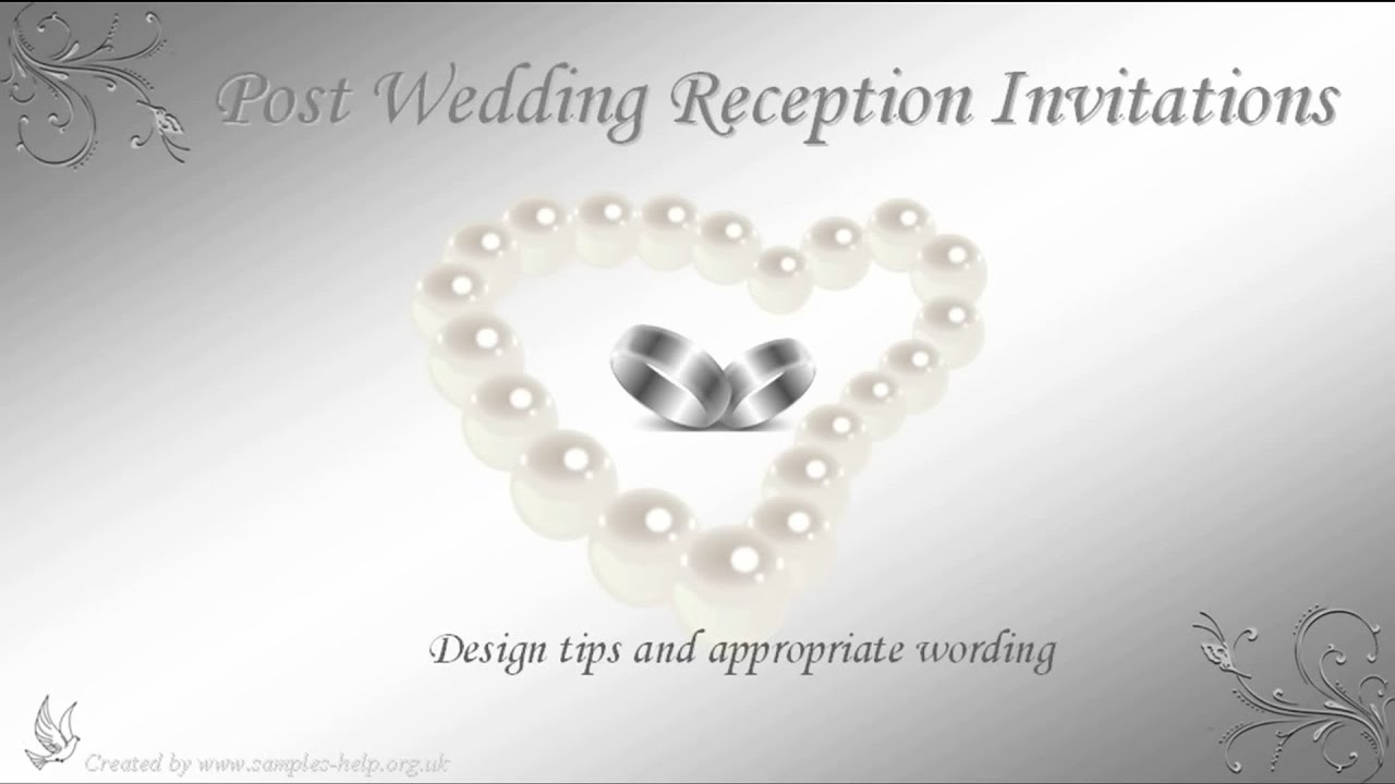 post wedding reception invitation wording youtube