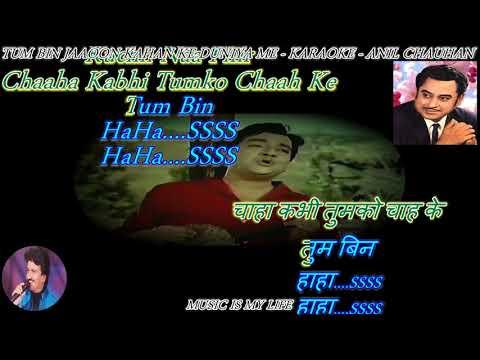 Tum Bin Jaaoon Kahan - Karaoke With Scrolling Lyrics Eng.& हिंदी