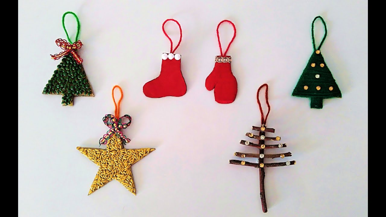 6 DIY Christmas Decoration ideas 6 easy & simple Christmas Craft ideas