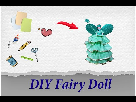 How to Decorate a Fairy Doll with Kite Paper | DIY Doll Decoration