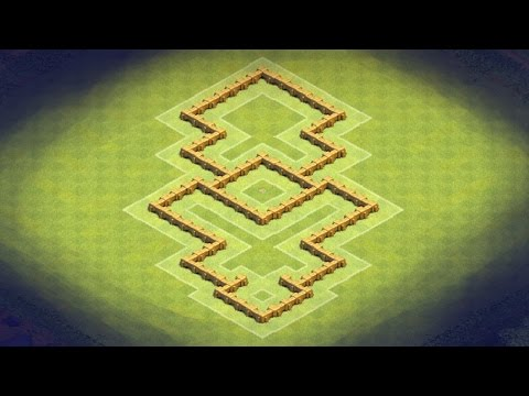Clash Of Clans - TH5 Hybrid Base (Wizard Flame) Epic Shape And Great Defense
