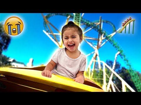 ELLE CRIES ON HER FIRST ROLLER COASTER RIDE!!! **HILARIOUS**