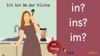 Learn German | Common Mistakes in German | in, im oder ins? | A1 | A2