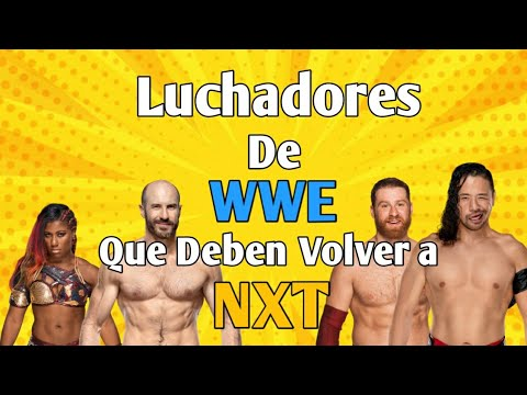Luchadores De WWE Que Deben Regresar A NXT ~ WWE EXPLOSIVE